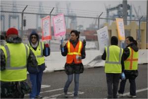 LA Long Beach striking clerks
